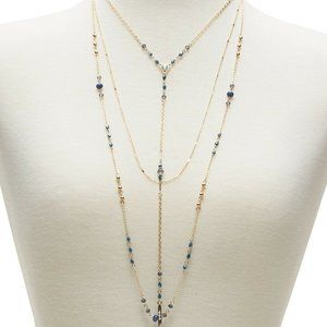 BANANA REPUBLIC LAYERED BEADED NECKLACE